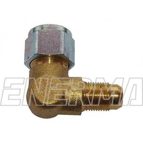 Złączka do rury PCV 90º  / 12x1 / 8mm