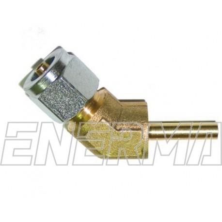 Złączka kątowa do PCV 135º  6mm
