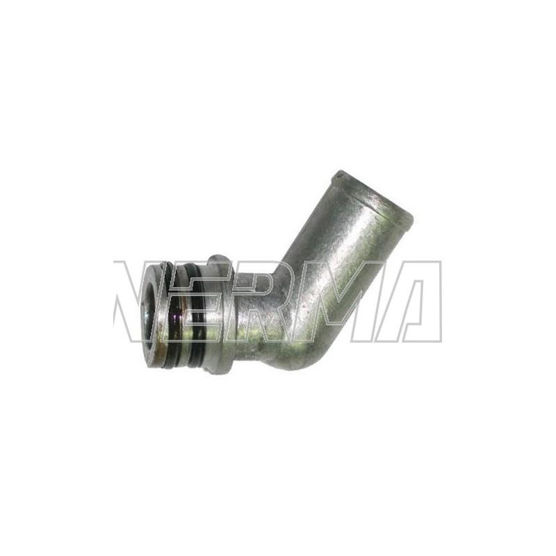 Kolanko metalowe reduktora KME Silver/Gold wodne