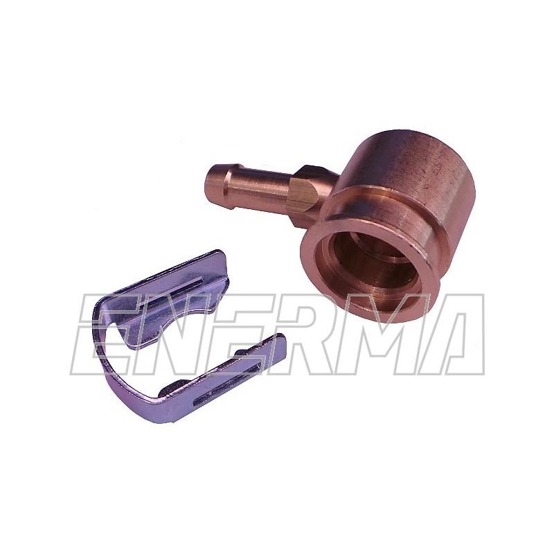 Adapter wtryskiwacza Hana - kątowy 90º / 6mm mosiądz