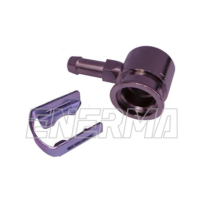 Adapter wtryskiwacza Hana - kątowy 90º / 6mm mosiądz niklowany