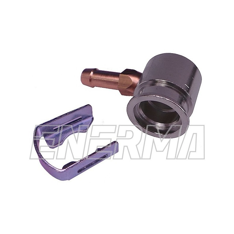 Adapter wtryskiwacza Hana - kątowy 90º / 6mm aluminium