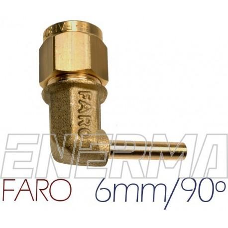 Złączka kątowa do PCV 90º  6mm Faro