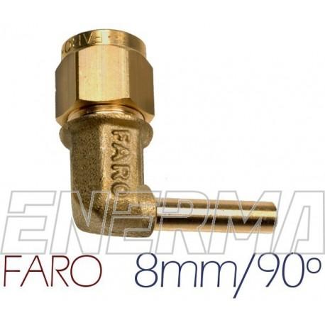 Złączka kątowa do PCV 90º  8mm Faro