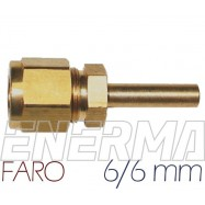 ø6mm straight fitting FARO