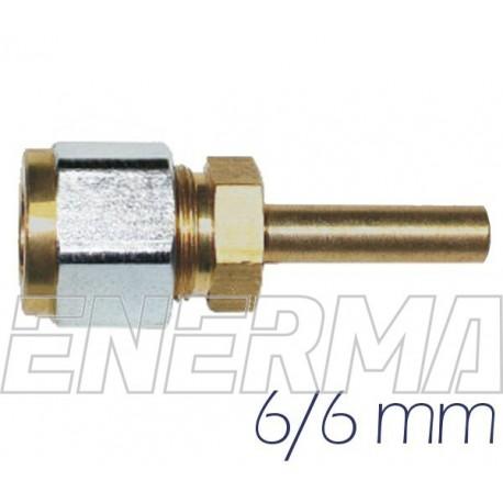 Złączka prosta do PCV 6/6 mm