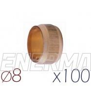Barrel sealing 8mm - 100pcs