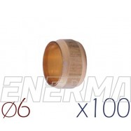 Barrel sealing 6mm - 100pcs