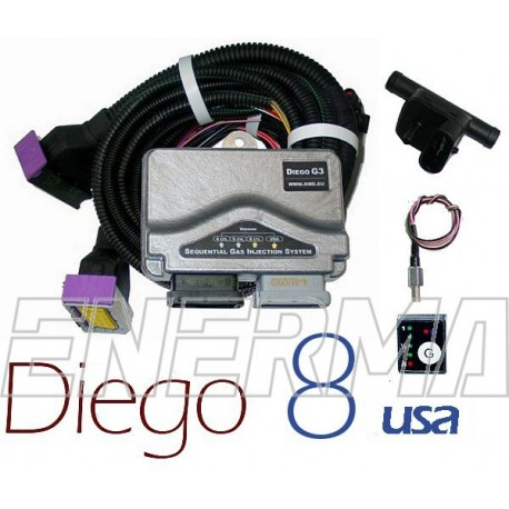 KME Diego G3 8cyl. USA  electronic set BW