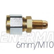 ø6mm  M10 elbow fitting
