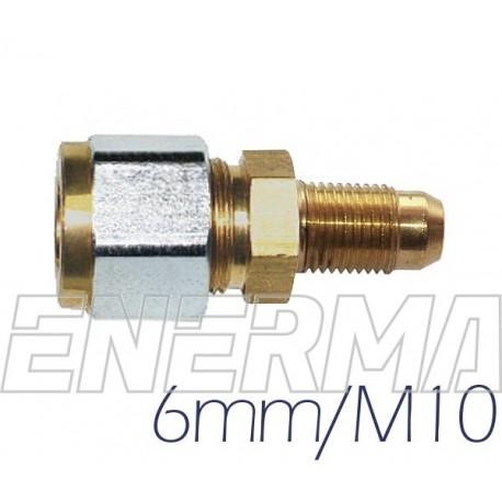 Złączka do rury PCV   6mm / 10x1