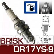 Brisk SILVER DR17YS-9  świeca zapłonowa