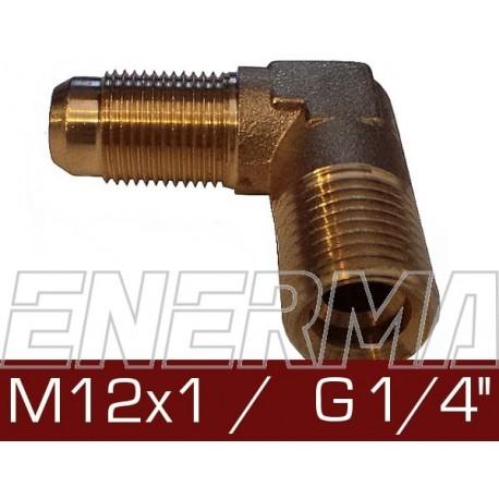 Elbow 90°  - M12x1 / G 1/4''
