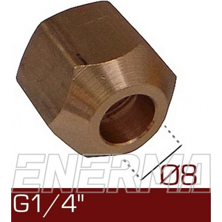 Barrel nut Ø8  G1/4''