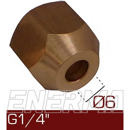 Barrel nut Ø6  G1/4''