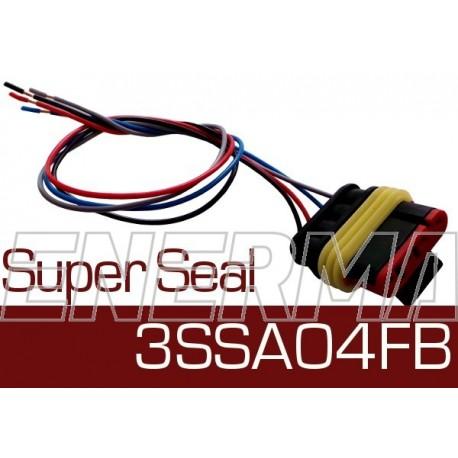 Wtyk żeński z wiązką  Super Seal 3SSA04FB