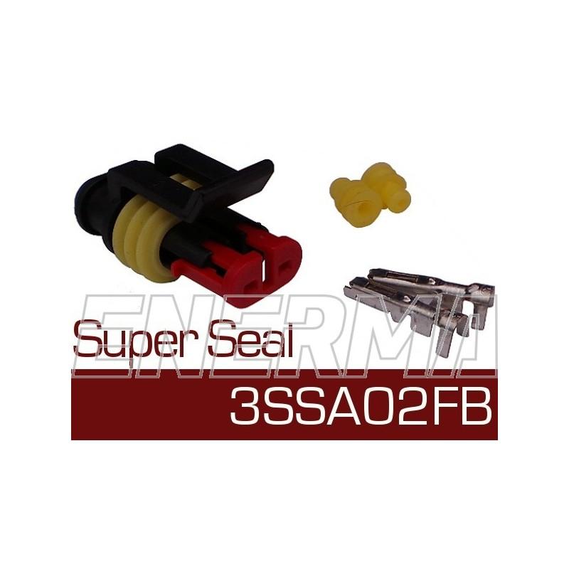 Wtyk żeński  Super Seal 3SSA02FB  bw