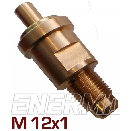 ZAK. Złącze nyplowe zaworu butli M12/47mm