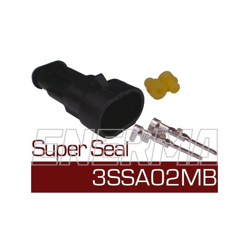 Wtyk męski z wiązką  Super Seal 3SSA02MB