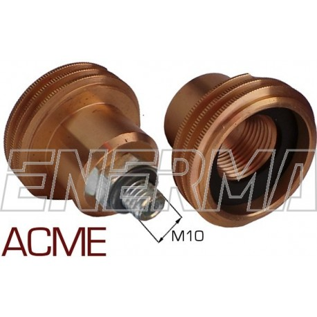ACME Gas filler adapter Poland / Germany, Belgium - M10/41mm steel thread
