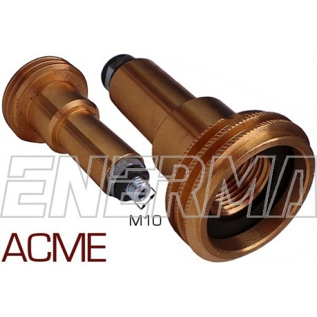 ACME Gas filler adapter Poland / Germany, Belgium - M10/80mm steel thread