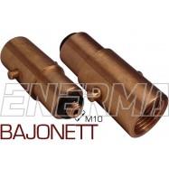 BAJONETT Gas filler adapter Poland / Netherlands, England - M10/73mm