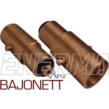 BAJONETT Gas filler adapter Poland / Netherlands, England - M12/73mm