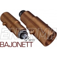 BAJONETT Gas filler adapter Poland / Netherlands, England - M10/80mm  steel thread