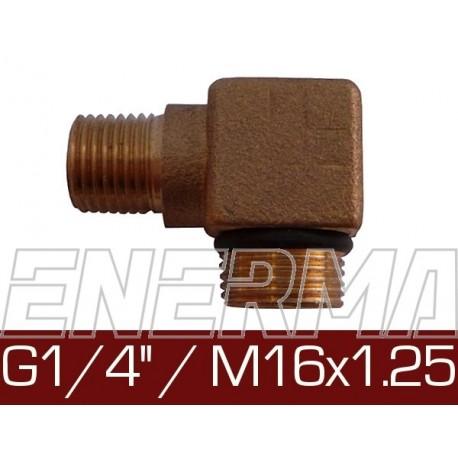 Kolanko 90°  - G 1/4'' / M16x1.25