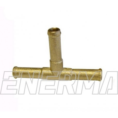 Brass T-connector 8/8/8