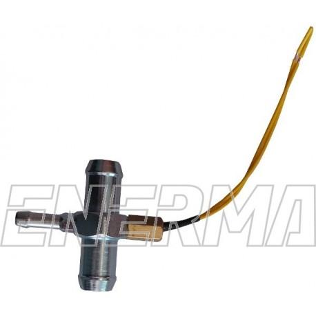 Temperature sensor with a pressure nozzle AGIS