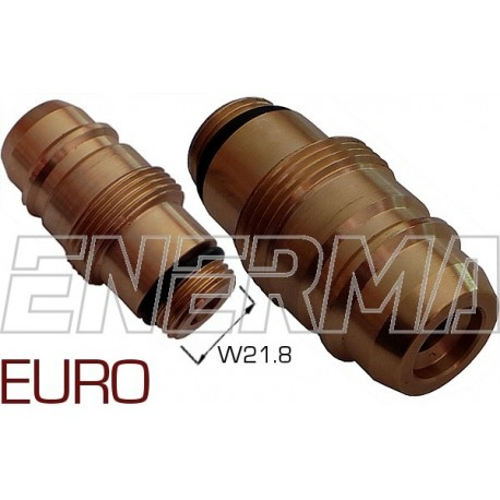 Gas filler adapter - Euro Connector  W21.8/M33x2/64mm