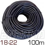 Ribbed hose Ø18 (18x22) - 100m