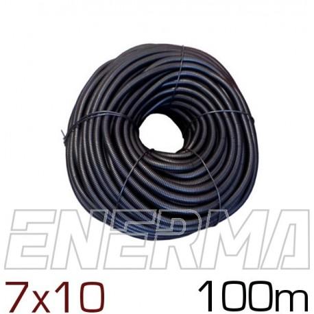 Ribbed hose Ø7 (7x10) - 100m