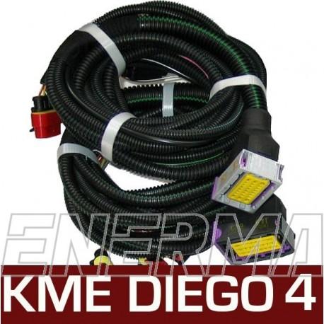 Okablowanie  KME Diego G3 4cyl.  komplet