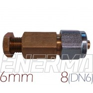 Złączka  MIEDŹ 6mm - RURA PCV 8mm (DN6)