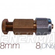 Connector  COPPER 8mm - PVC pipe 8mm (DN6)