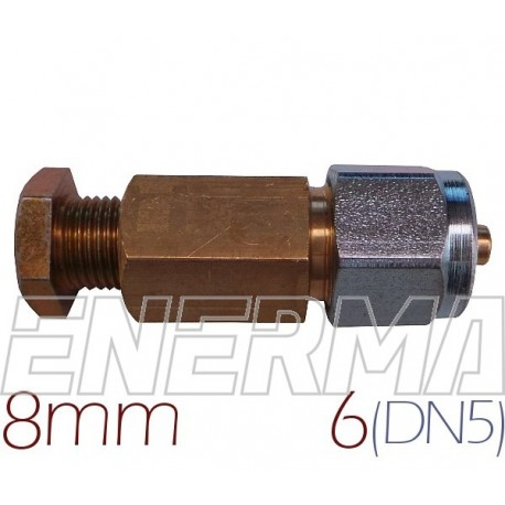 Connector  COPPER 8mm - PVC pipe 6mm (DN5)