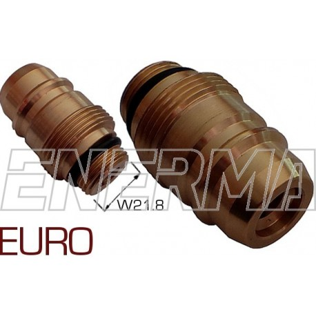 Gas filler adapter - Euro Connector  W21.8/M33x2/52mm