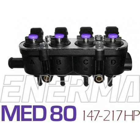 Injection rail Landi Renzo Med 4cyl. (25-80/violet) without sensor