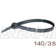 Opaska plastikowa 140/3.6 komplet 100 sztuk