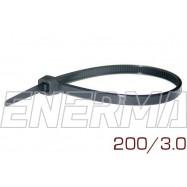 Opaska plastikowa 200/3.0 komplet 100 sztuk