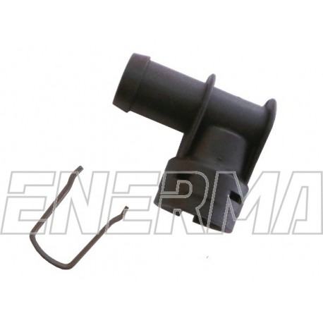 Plastic Adapter for injectror Hana/Barracuda -  90º / 12mm