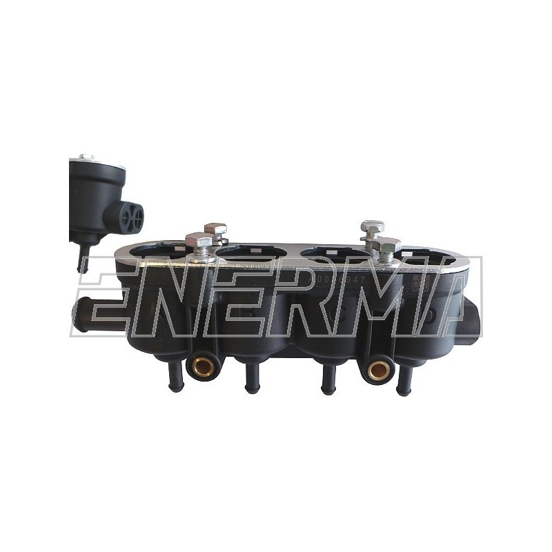 Housing for injectors Landi Renzo 4 cyl.  without hole for sensor