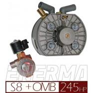 Reduktor KME Silver S8 z elektrozaworem 8mm