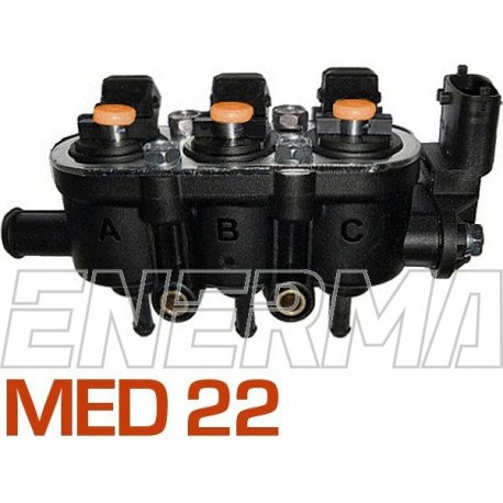 Landi Renzo Med 3cyl. (25-65/orange) Injection rail  with sensor