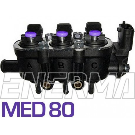 Landi Renzo Med 3cyl. (25-80/violet) Injection rail with sensor