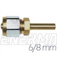 Złączka prosta rury PCV 6→8mm