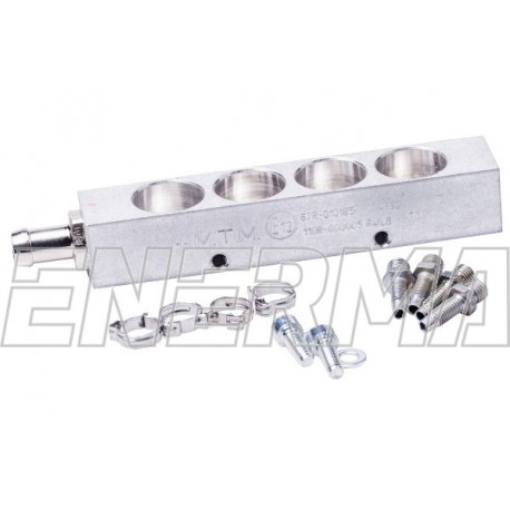 Housing for injectors MTM BRC 4 cyl.  without hole for sensor