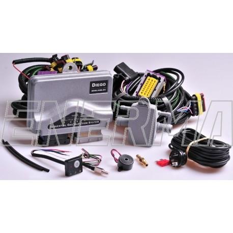 Wtrysk KME Diego G3 4cyl.  elektronia + sensor wskazania